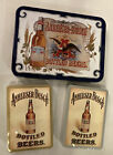 """Anheuser-Busch Bottled Beers Tin With 2 Decks of Playing Cards, 4-1/4"""" by 5-3/4"""""""