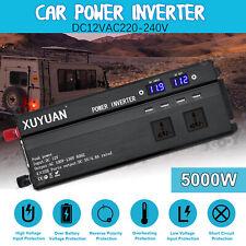 4000W/5000W Car Power Inverter DC 12V To AC 110/220V Charger Converter &USB Port