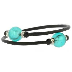 GlassOfVenice Murano Glass Venetian Glamour Bracelet - Aquamarine