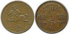 LITHUANIA LITUANIE  5 CENTAI 1925 KM# 72