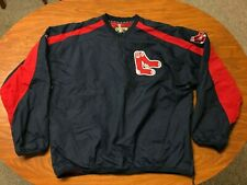 MENS LIGHTLY WORN MAJESTIC COOPERSTOWN BOSTON RED SOX WINDBREAKER PULLOVER LARGE