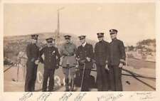 Austria Allied Naval Officers Military Real Photo Antique Postcard J62961