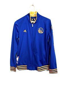 Golden State Warriors Adidas Warmup NBA Jacket On-Court Zip-up Boys Large 14-16