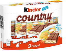 10 x BOXES - KINDER COUNTRY - 90 PIECES - GERMAN CANDIES SWEETS CHOCOLATE BAR