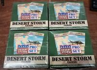 Lot 4x Desert Storm Collectible Cards 1991 Pro Set Series 1 Boxes of 36 Packs