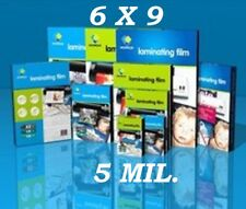6 x 9 50 5 Mil Laminating Pouches Laminator Sheets Half Letter Size GBC Quality