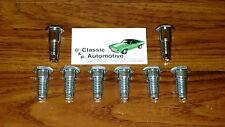 Seat Belt Bolts Set 8pc 67 68 69 Camaro Firebird Plated bolts floor *In Stock*