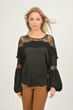 NEW BRIEFLY BLACK EVENING EVERYDAY BLOUSE TOP SIZE UK 14/16. US 10/12