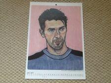 Adriano Buffon Italia tschutti heftli junio 2017 calendario de impresión A4 euro 2016