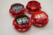 BBS RS RC Hex Nuts RED Center Caps 15 16 17 18 19 Inch Large Thread 70mm Vw Bmw