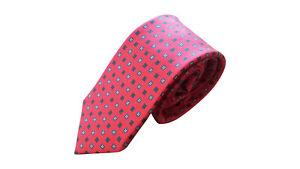 PECKHAM RYE 100% Silk Designer Tie Red Exclusive to John Lewis NEW