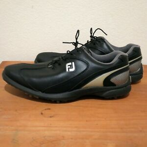 FootJoy Mens Black and Gray Golf Shoes Size 10.5M Style 58038