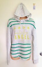 NWT Victoria's Secret Fleece Shirttail Hoodie Sweater Hooded Jumper Size S (A1)