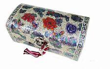Mother of pearl wood  trinket jewelry box jewel case organizer peony flower big