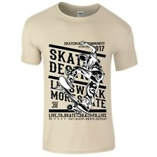 Novelty Live To Skate Street skateboard licensed Motif children's boys t-shirt