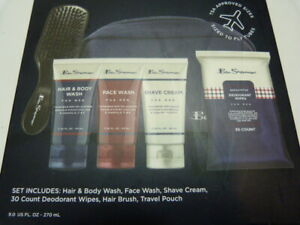 NEW* Ben Sherman Mens Travel Bag Essentials Set with TSA Approved Size
