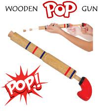 Wooden Pop Gun Retro Novelty Party Bag Filler Traditional Kids Toy Fun Prank