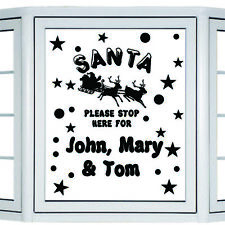 SANTA PLEASE STOP HERE PERSONALISED CHRISTMAS STICKERS Christmas decoration N142