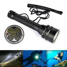 Underwater 5x T6 LED Diving Flashlight Torch Lamp Waterproof 100M 5000 Lumens
