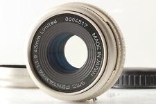 [MINT] PENTAX FA SMC 43mm f1.9 Limited Silver Lens w/ Hood From JAPAN