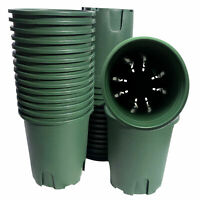 1/2-5gallon/10-30pcs Green Plastic Pots with Root Contronl/ garden plant
