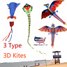 Summer Huge 3D Cartoon Kite Single Line With Tail Family Child Outdoor Sport Toy