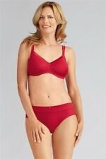 aeebaebbf5 NEW Amoena Lara Satin Non-Wired Soft Mastectomy Bra 41587 Ruby Red 38A