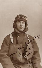 RPPC RAF Pilot Military Uniform Soldier Goggles Portrait WWI Photo War Postcard