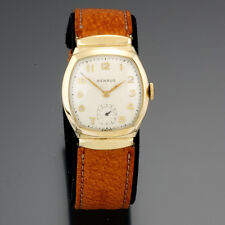 Benrus Watch | 15 Jewel Covered Lug Yellow Rolled Gold Plate Man's Watch CA1950s