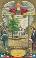Abraham Lincoln Springfield Illinois Home Patriotic Postcard - 1909