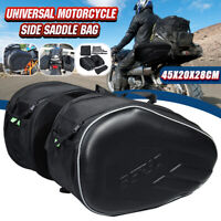 Universal 58L Motorcycle Luggage Pannier Bag Saddlebags Tool Bag Side Pouch AU