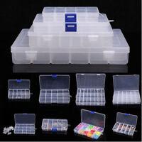 1 x 23 Fächer Sortimentskasten Box Köderbox Kunststoff Plastikbox Transparent