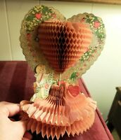 Vintage USA Beistle Honeycomb Valentine Cupid A Token of Love to The One I Love