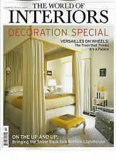 THE WORLD OF INTERIORS, OCTOBER, 2013 ( DECORATION SPECIAL * ON THE UP AND UP )
