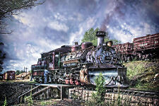 Water Tower D&RGW K-36 483 2-8-2 12x18 steam train photo picture loco engine