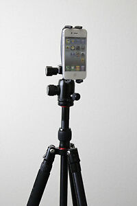 """Tripod Holder for iPhone 5 4 4s 3gs 3g smartphone with 1/4""""-20 Screw Mount, New!"""