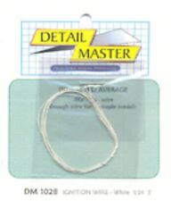 Detail Master DM#1028 Ignition Wire (White) 1/24th scale 2 ft. in length