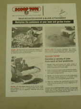 VINTAGE REAR MOUNTED SCOOP TOTE SPEC SHEET SALES BROCHURE for COMPACT TRACTORS