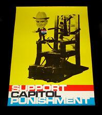 1968 LBJ POLITICAL CAMPAIGN POSTER ~ SUPPORT CAPITOL PUNISHMENT