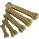 "Natural Rawhide Pressed Bone 3""x25 pack"