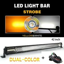 "42INCH 10D Trip Row LED LIGHT BAR Spot Flood COMBO Fog lamp VS 40"" 44"""