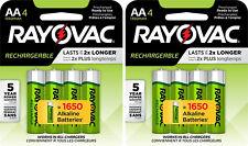 Rayovac AA Precharge 1350mAh NiMH 8 Batteries