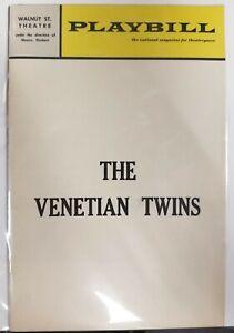1968 Playbill The Venetian Twins Walnut St. Theatre Philadelphia