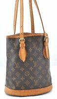 Authentic Louis Vuitton Monogram Bucket PM Shoulder Bag M42238 LV B1546