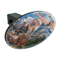 Multiple Animal Species Migration Oval Tow Trailer Hitch Cover Plug Insert