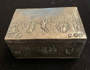 Hanau Nuremberg Germany 18th Centrury Silver Box