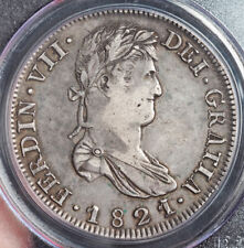 1821, Mexico, Ferdinand VII. Spanish Silver 8 Reales Coin. Zacatecas! PCGS VF35!