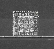 Altdeutschland Baden 1862 Mi-Nr  17 a gestempelt