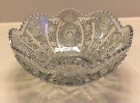 Vintage Carnival Cut Glass Iridescent Bowl