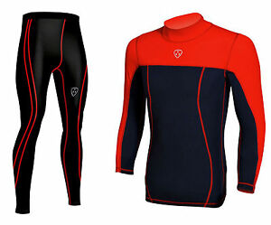 Men's Compression Armour Base layer Top & legging running Tights Pants Skin Fit